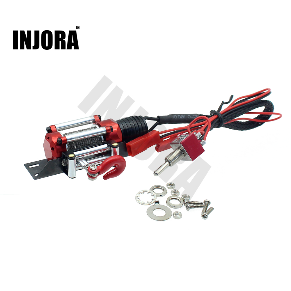 Metal Steel Wired Automatic Simulated Winch for 1/10 RC Crawler Car Axial SCX10 RC4WD D90