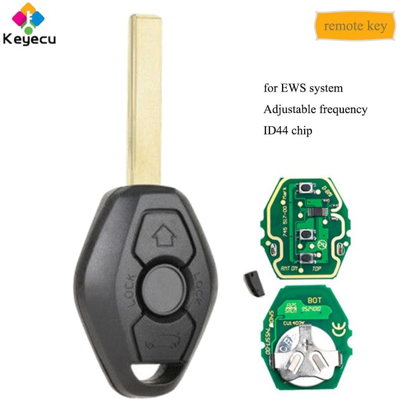 Tastă de la distanță EWS cu frecvență reglabilă KEYECU Cu lama HU92 315MHz 433MHz ID44 Lama - FOB pentru BMW E81 E46 E39 E63 E38 E83 E53 E36