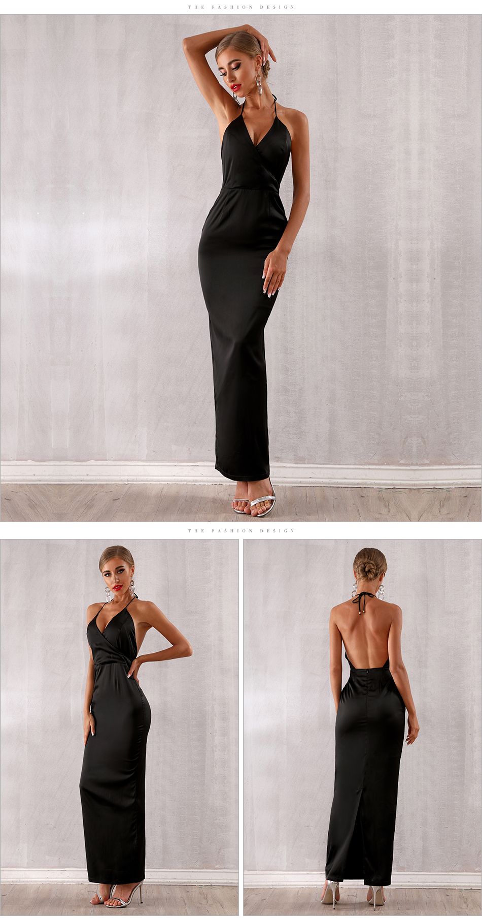 Neck Maxi Party Backless 7
