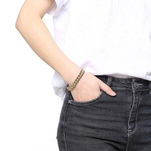 Image 5 - Firmy zegarków opieki zdrowotnej hematytu energii moc mężczyzna dorywczo biżuteria Hombre mężczyzn ze stali nierdzewnej bransoletka