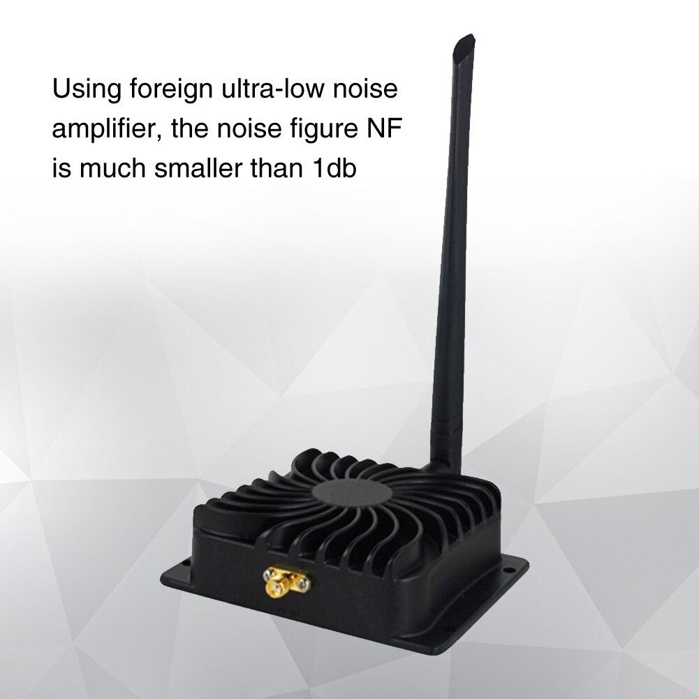 Répéteur noir avec antenne 2.4 GHz amplificateur de puissance haut débit WIFI faible bruit Signal Booster aluminium Durable pour routeur sans fil