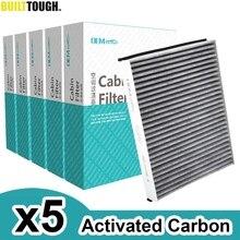 5x רכב אבקת בקתת מיזוג אוויר מסנן פחם פעיל AV6N 19G244 AA עבור פורד C מקס 2 בריחה Kuga פוקוס 3 טרנזיט קונקט
