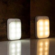 Recarga led sensor sob luzes do armário para o armário do quarto de cozinha roupeiro luz da noite usb operado conduziu a luz do armário
