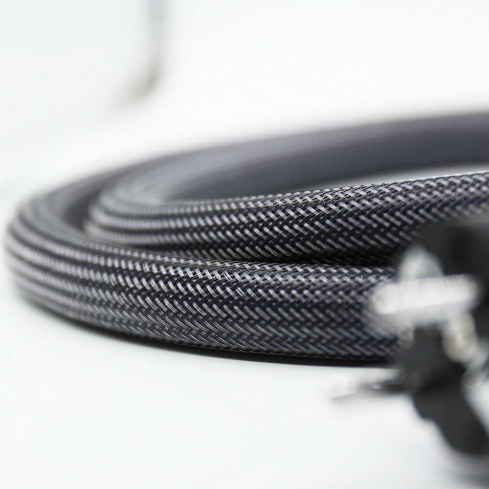 Hifi PCOCC медь Hi-End audiophile шнуры питания ЕС Schuko Кабель питания с рис. 8 IEC AMP поворотный удлинитель питания,