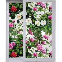 Flowers Privacy Window Foil Film Glass Sticker Abti UV Stained Static Cling bedroom door Glue free Opaque Home Decorative Film
