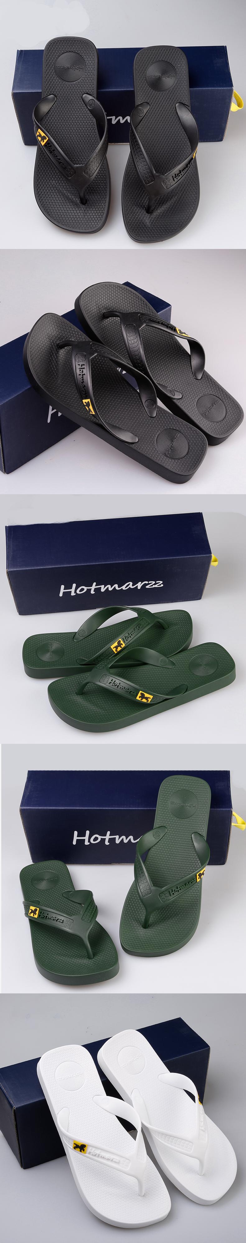 bfcba8dad923 Hotmarzz Men Flip Flops Beach Flat Sandals Designer Slippers Summer Shoes  Fashion Slides Rubber Clogs Zapatos Hombre