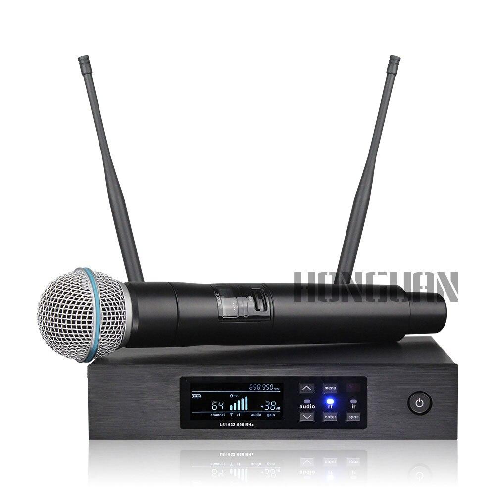 Nouveau! QLXD4 numérique vraie diversité UHF système de Microphone sans fil professionnel unique portable micro parfait son scène micro - 2