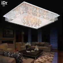 Круглый Crystal Light Красочный СВЕТОДИОДНЫЕ лампы гостиной спальня потолочные светильники высокого качества светильники ресторан L950xW750MM