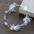 Orchid Flower Head Chain Hair Jewelry Rhinestone Feather Hairband Bridal Headpiece Headband Wedding Hair Accessories WIGO0915