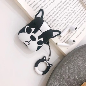 Image 5 - Cute Cartoon Bulldog Earphone Headset Accessories TPU soft case For Airpods Wireless 1 2 Bluetooth Headset bags