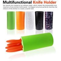 Tool holder Multifunctional Plastic Tool Holder Knife Block Knife Stand Sooktops Tube Shelf Chromophous Scissors Holder