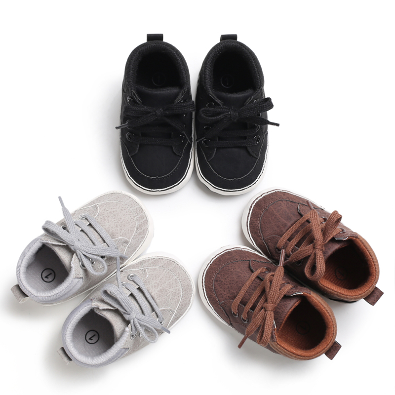 Emmababy Newborn Baby Kids Girl Boys Cute Cotton First Walkers Lace-Up Sneakers Shoes