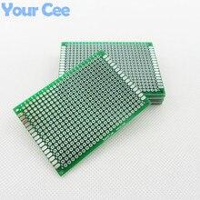 5 шт. 5X7 см 5*7 см двухсторонний Прототип pcb Универсальный макет печатная плата для Arduino 1,6 мм 2,54 мм Стекловолокно