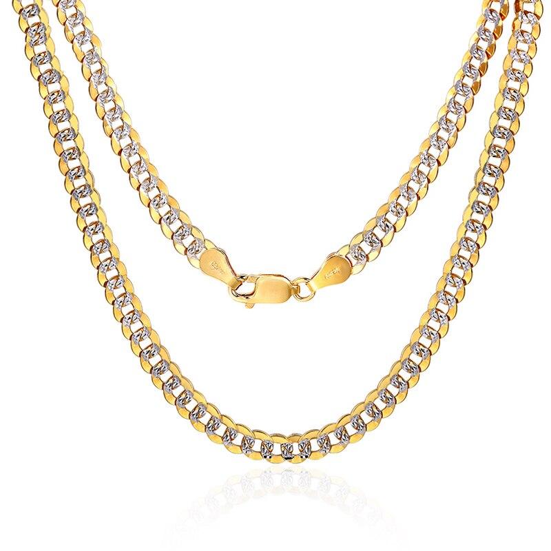 18 K pur or collier réel AU 750 solide or chaîne hommes Simple haut de gamme à la mode classique fête Fine bijoux vente chaude nouveau 2018