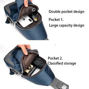 Image 5 - 男性のメッセンジャーバッグショルダーオックスフォード布胸バッグクロスボディカジュアルメッセンジャーバッグ男usb充電多機能ハンドバッグ