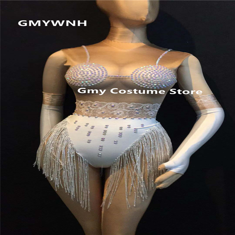 Event & Party Skillful Knitting And Elegant Design R96 Sexy Singer Performance Dress Dj Stage Ballroom Dance Costumes Party Wears Clothe Gogo Bodysuit Disco Jumpsuit Bar Outfits To Be Renowned Both At Home And Abroad For Exquisite Workmanship