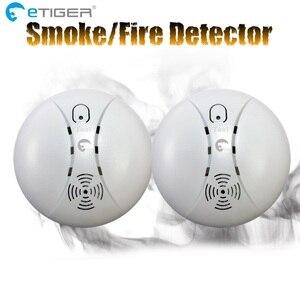 Image 3 - ETiger gorąca sprzedaży bezprzewodowa czujka dymu czujnik przeciwpożarowy ES D5A dla systemu alarmowego Etiger S4/S3B Panel