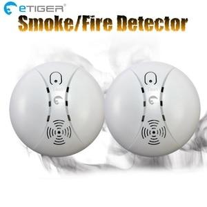 Image 3 - ETiger الساخن بيع كاشف لاسلكي عن الدخان جهاز إنذار حرائق الاستشعار ES D5A لنظام إنذار Etiger S4/S3B لوحة