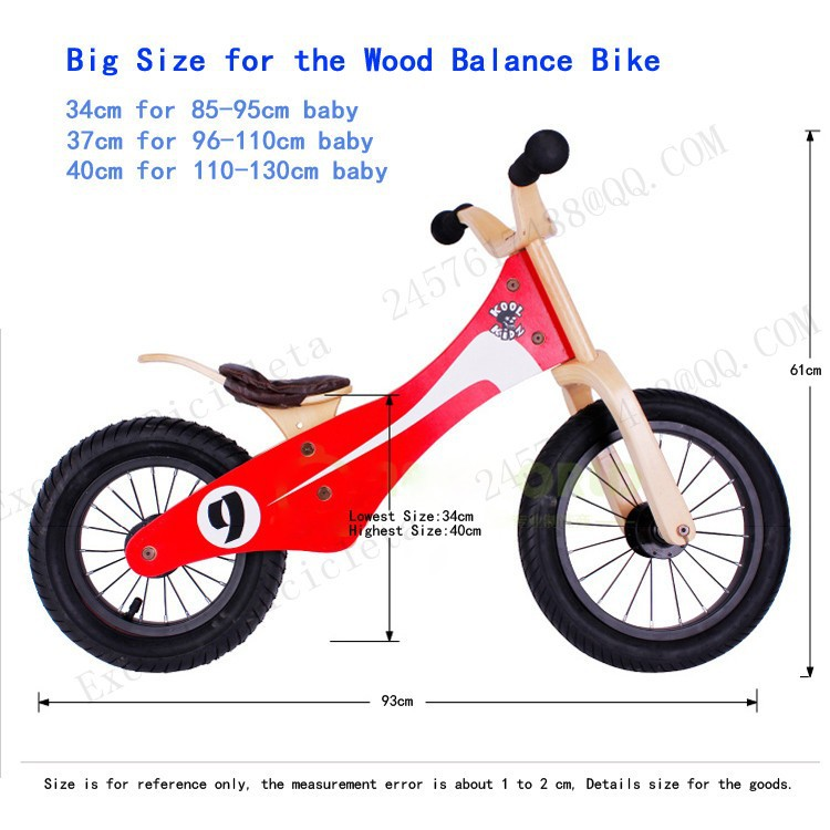 b12-Baby two wheels Wood Balance Bike for 2-6 Years age Bicicleta Infantil Balance Bike Kid's bicycle Common Childen's Cycling