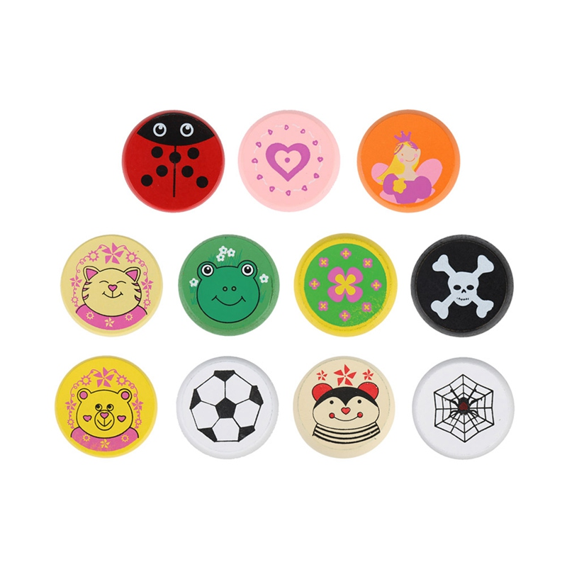 Colorful animal yo-yo toy Bearing Professional Yoyo Toys wood High Precision Game Special Props diabolo juggling