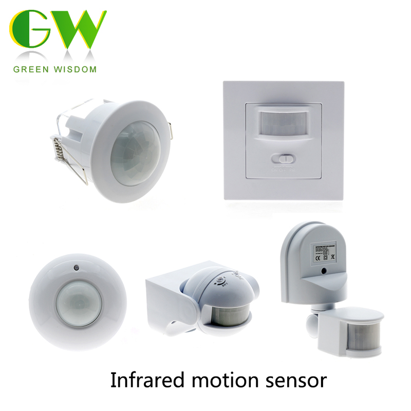 PIR Sensor Switch Recessed Human Body Induction Switch Light Control DC9V-24V / AC110-240V odm 9 40mm mercury switch position sensor 220v 2a