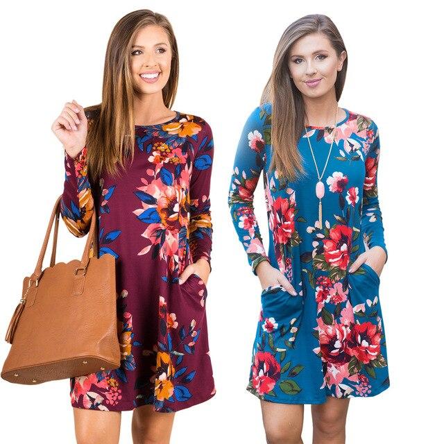 e9b8ade603 Long Sleeve Round Neck Maternity Dress – DTC-Shop