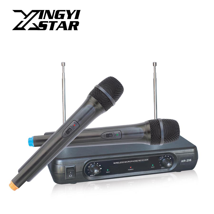 Professional Handheld Dynamic Mic Karaoke Wireless Microphone System With Receiver For KTV Mikrofon Microfono Microfone Sem Fio  professional waterproof condenser microphone sport headset microfone for sennheiser wireless system trs 3 5mm screw jack mic