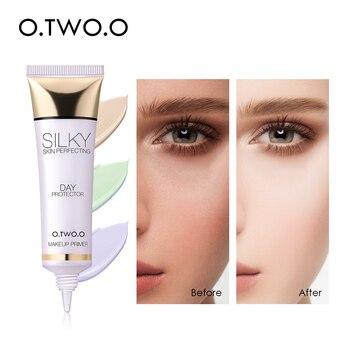 O.TWO.O maquillaje imprimación ilumina incluso el tono de la piel corrector de los poros invisibles humedecer la Base de Control de aceite de larga duración