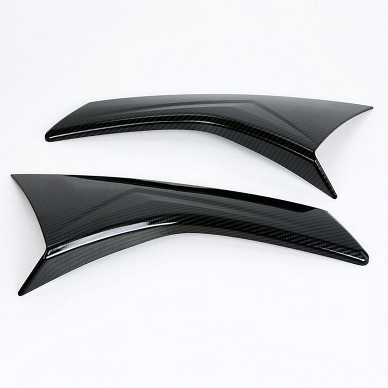 Chrome Rear Window Spoiler Cover Side Triangle Trim Pillar Posts Molding Garnish Styling for Subaru XV 2017 2018 Car Accessories