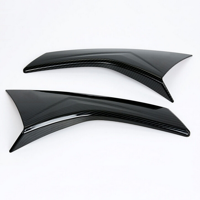 Janela Chrome Rear Tampa Lateral Guarnição Triângulo Decore Molding Posts Pilar Styling Spoiler para Subaru XV 2017 2018 Acessórios Do Carro