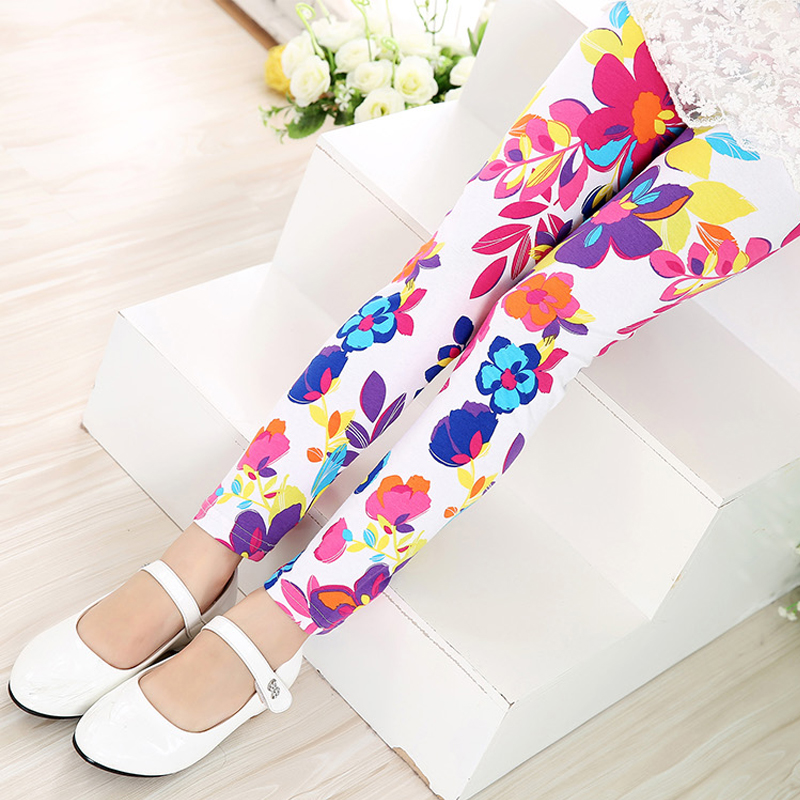 Multi-Color-Girl-Pant-Printing-Flower-children-pants-Spring-Autumn-kids-leggings-skinny-girls-leggings-Kids-Clothing-5