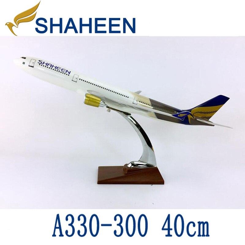 40 CM 1: 172 Airbus A330 300 modèle Pakistan SHAHEEN airlines avec base en alliage avion avion à collectionner modèle collection-in Jouets véhicules from Jeux et loisirs    1