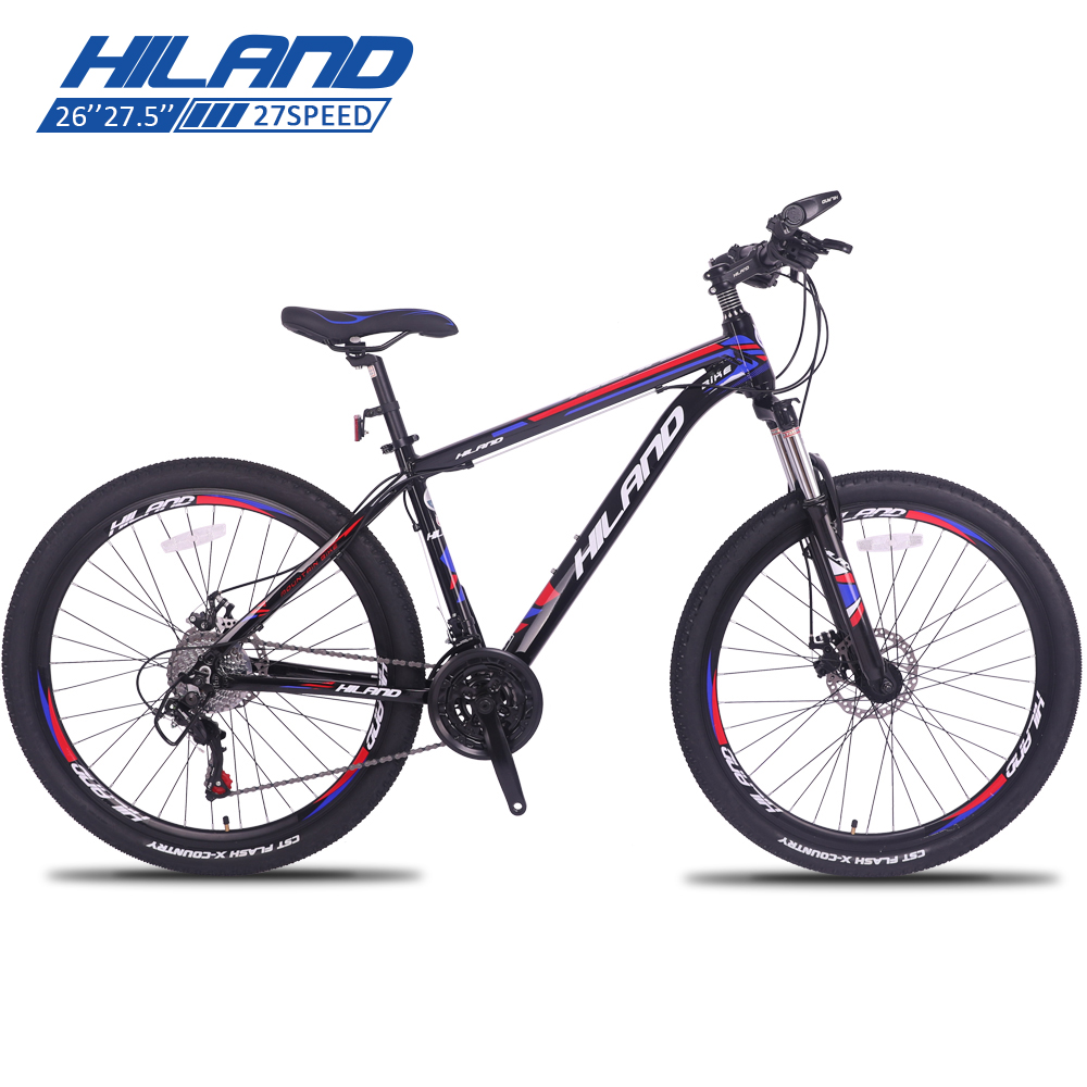 HILAND 26 ''Mountain Bike 21/24/27 Velocità Della Bicicletta In Acciaio Doppio Rottura del Disco MTB Forcella Della Bicicletta con Shimano TZ50