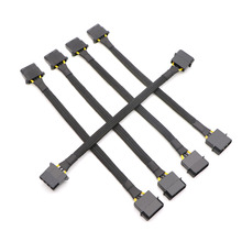 10pcs/Lot Black Full Sleeved IDE Molex 4Pin Male to Female Power Extension Cable.