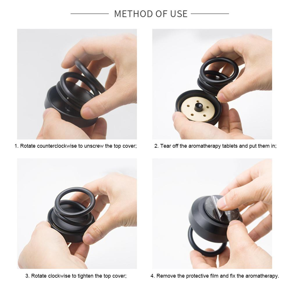 Image 5 - Car Aromatherapy Innovative High End Double Ring Air Fresher Suspension Rotating Car Air Purifier Decoration Fragrance Novelty-in Air Freshener from Automobiles & Motorcycles