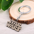 10pcs/lot Movie Jewelry  Star wars keychain letter logo  Alloy Keychain men Gift  High Quality metal key ring Souvenirs