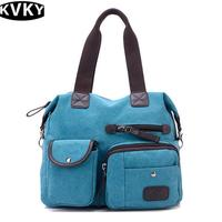 KVKY Brand Men Handbags Canvas Shoulder Crossbody Bags Men Messenger Bags Solid Man Casual Travel Multifunction