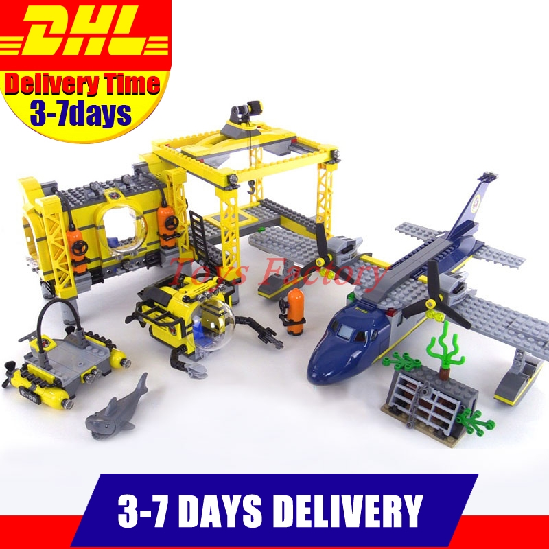 2018 DHL Lepin 02088 1016Pcs City Series The Deep Sea Opearation Base Set 60096 Building Blocks Bricks For Kids New Year Gift model building blocks toys 02088 deep sea opearation base compatible with lego city series 60096 educational diy toys