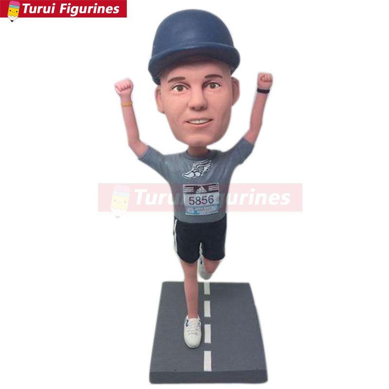 Powerful Boss Custom Bobble Head Personalized Gift Clay Figurines Based on Customers Photos Birthday Cake Topper Husband Boyfriend Bday Gift