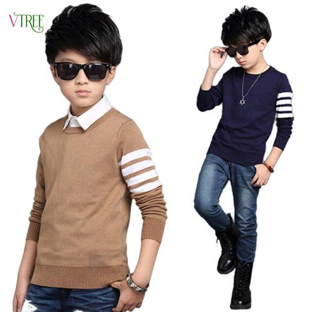 New Teeage Boys Sweater Children Outwear Brand Design Sweaters For Boy Autumn Winter Wool Warm Clothing Kids Sweater 4-12 Year
