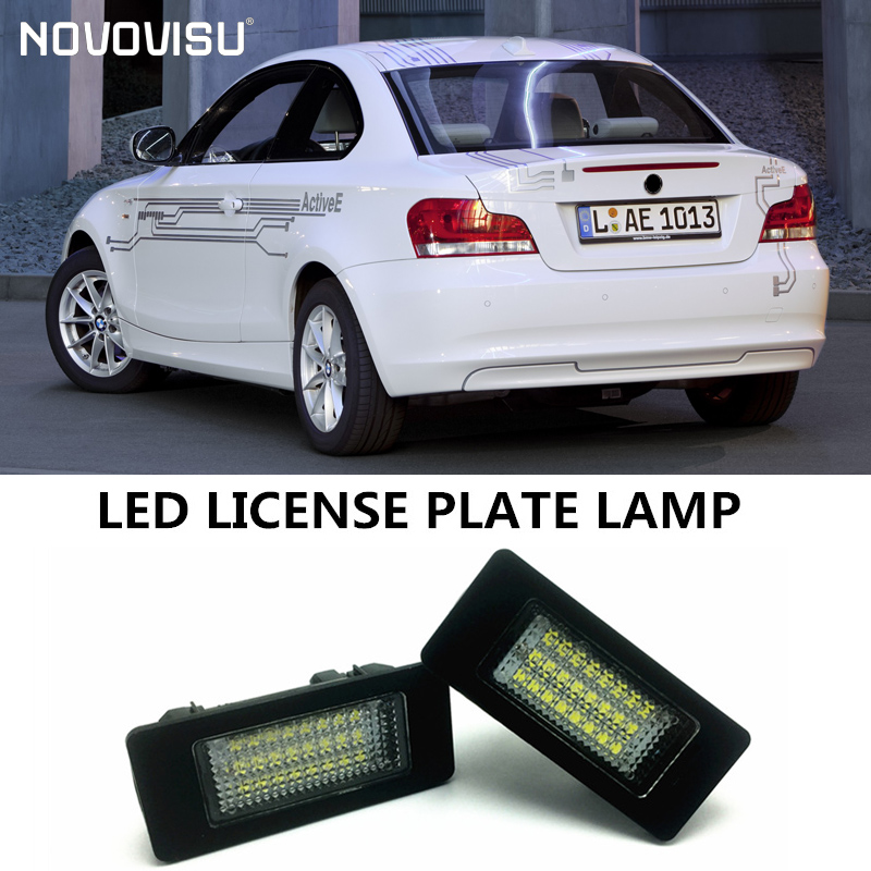 Pour BMW série 1 E82/E88 (128i, 135i) 2008 ~ 2012/LED lumière de plaque d'immatriculation de voiture/lumière de cadre de numéro/lampe à LED de haute qualité