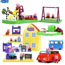 Подлинный игровой набор Peppa Pig Peppa's Deluxe House, фигурка, игровой набор, детская игрушка, подарок, Официальный- оригинальная коробка