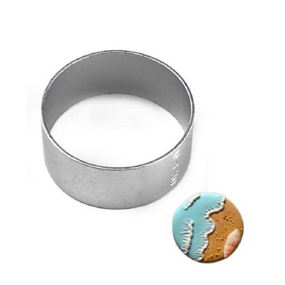 Novo molde de alumínio círculo em forma redonda biscoito biscoito bolo pastelaria cozimento cortador molde bakeware ferramentas de decoração