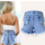 2016 novas mulheres shorts jeans, primavera e verão moda feminina shorts, shorts jeans rasgado bordado atacado frete grátis C0401