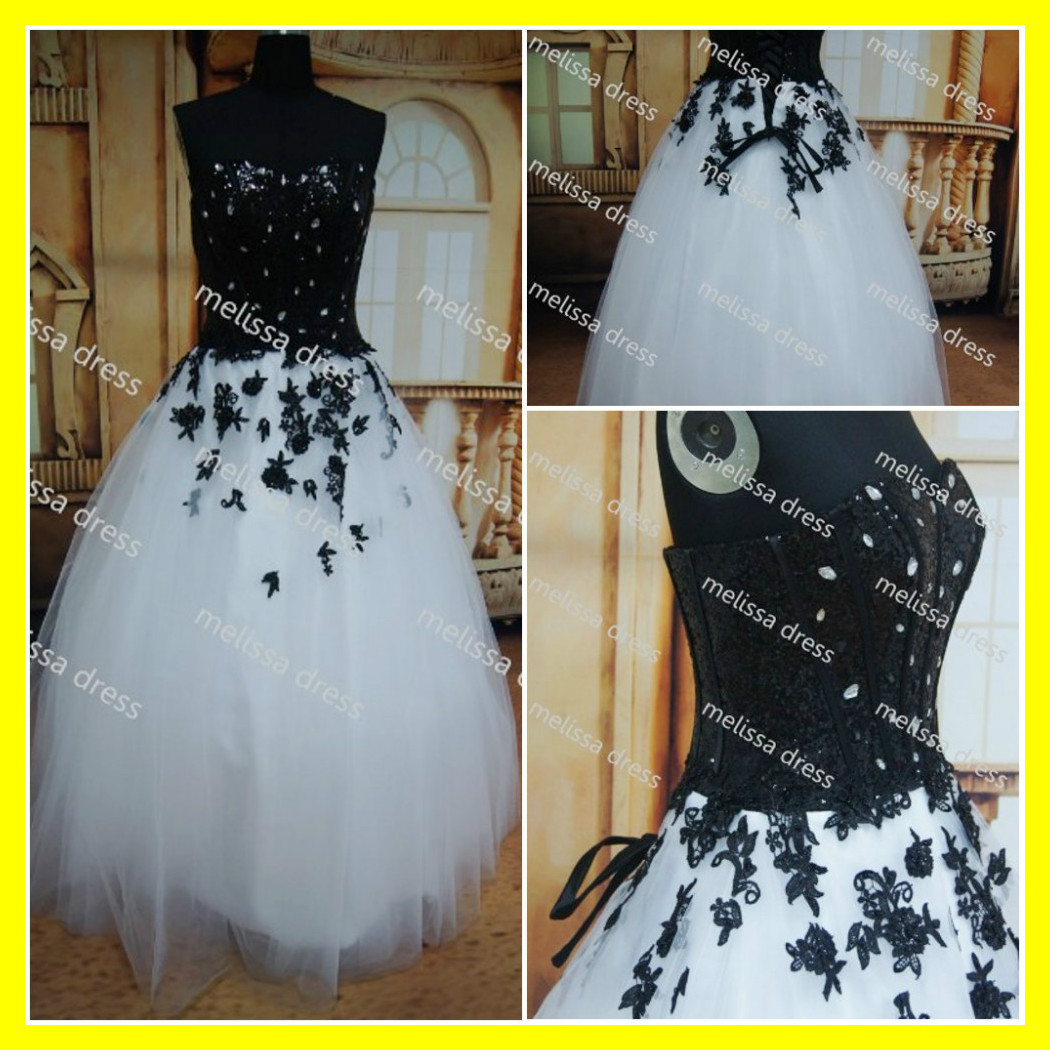 Black And White Wedding Dresses Short Lace Casual Plus Size Silver ...