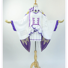 ; Re: жизнь в другом мире от zero Emilia; костюм для косплея; платье+ юбка+ фартук+ головной убор+ чулки+ эльфийские ушки