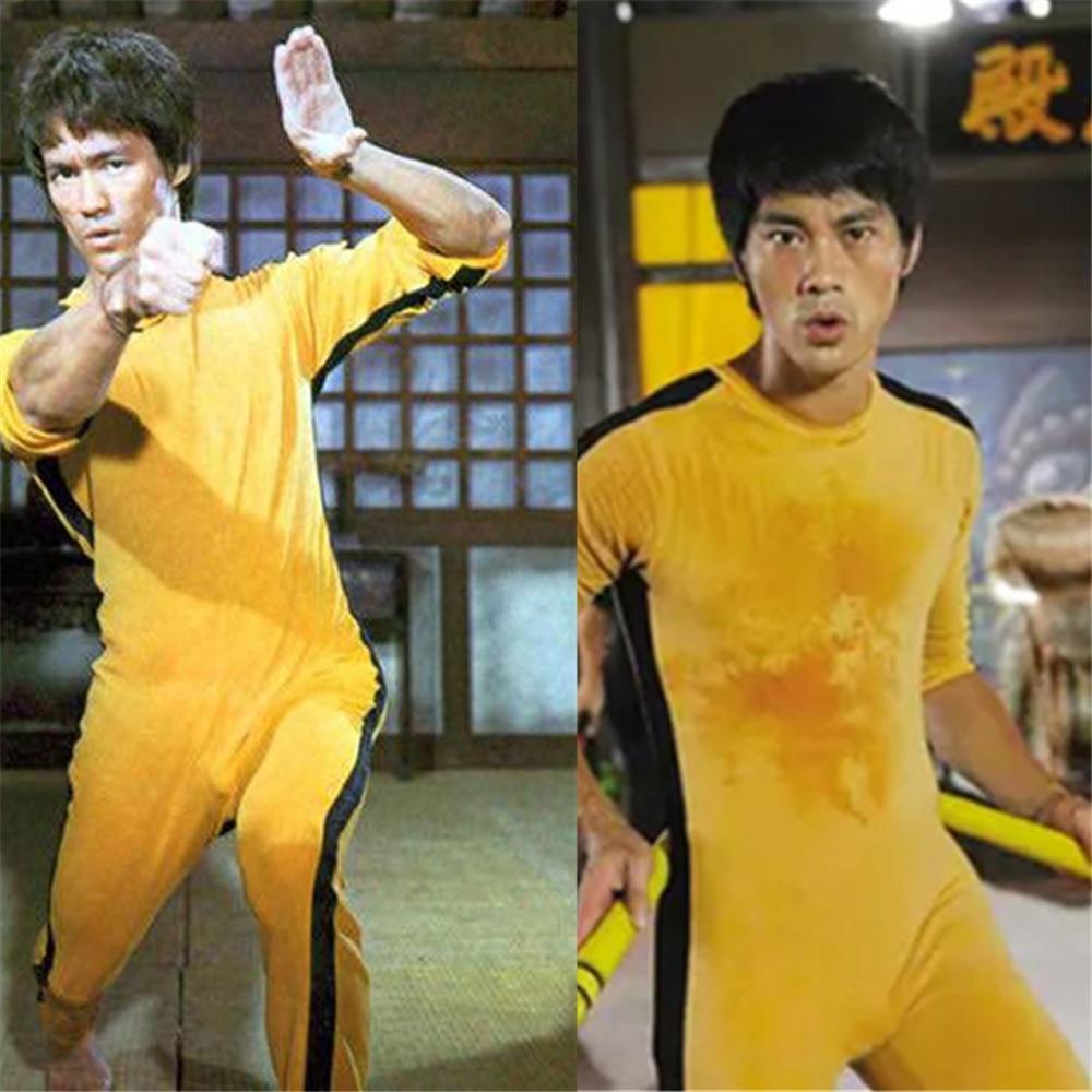 Image 4 - Adult Kids Bruce Lee Cosplay Jeet Kune Do Uniform Unisex Yellow Jumpsuit Chinese Kung Fu Training Suit Game of Death CostumeMovie & TV costumes   -