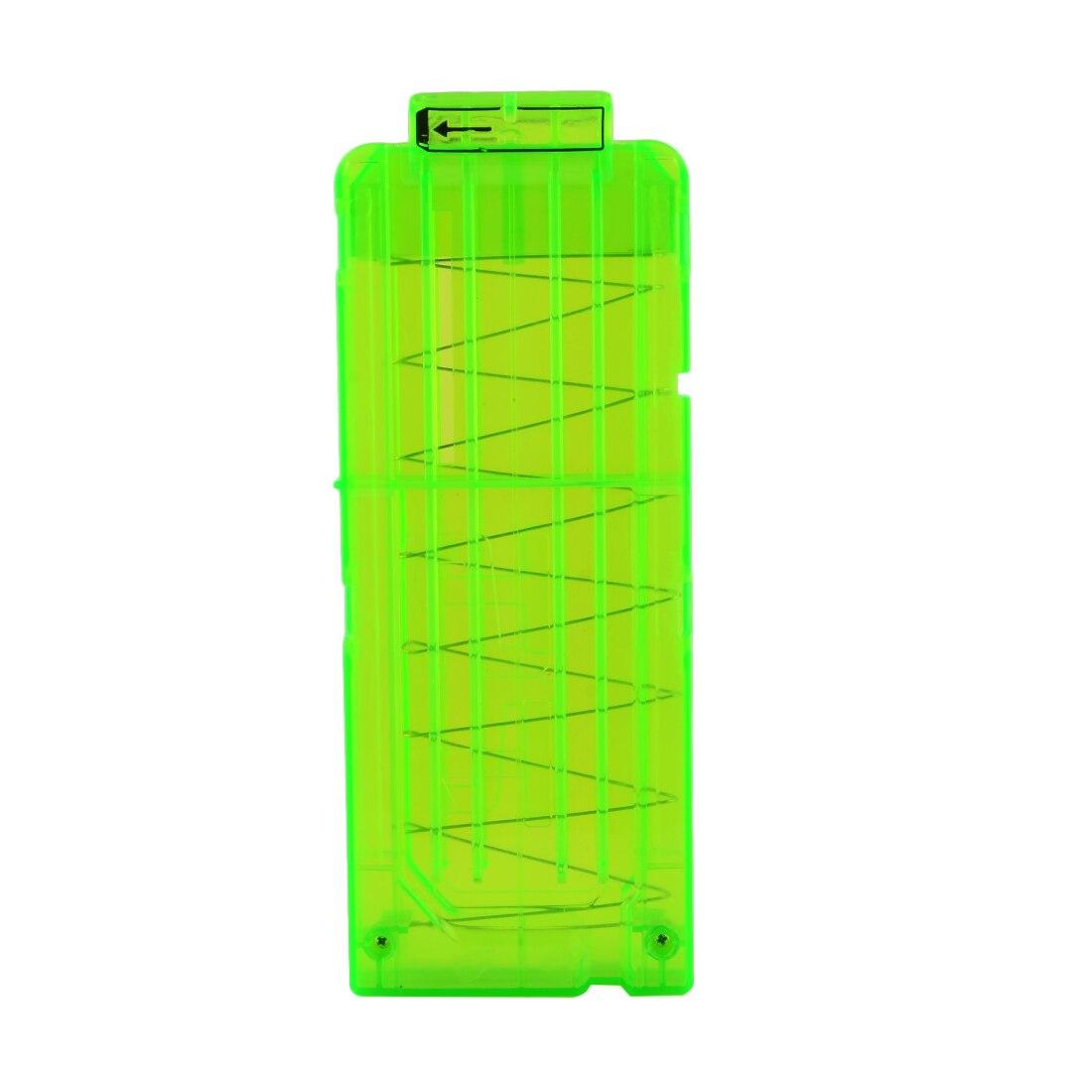 Survish Soft Bullet Clips til Nerf Toy Gun 12 Bullets Ammo Cartridge Dart til Nerf Gun Clips - Trasparent Green