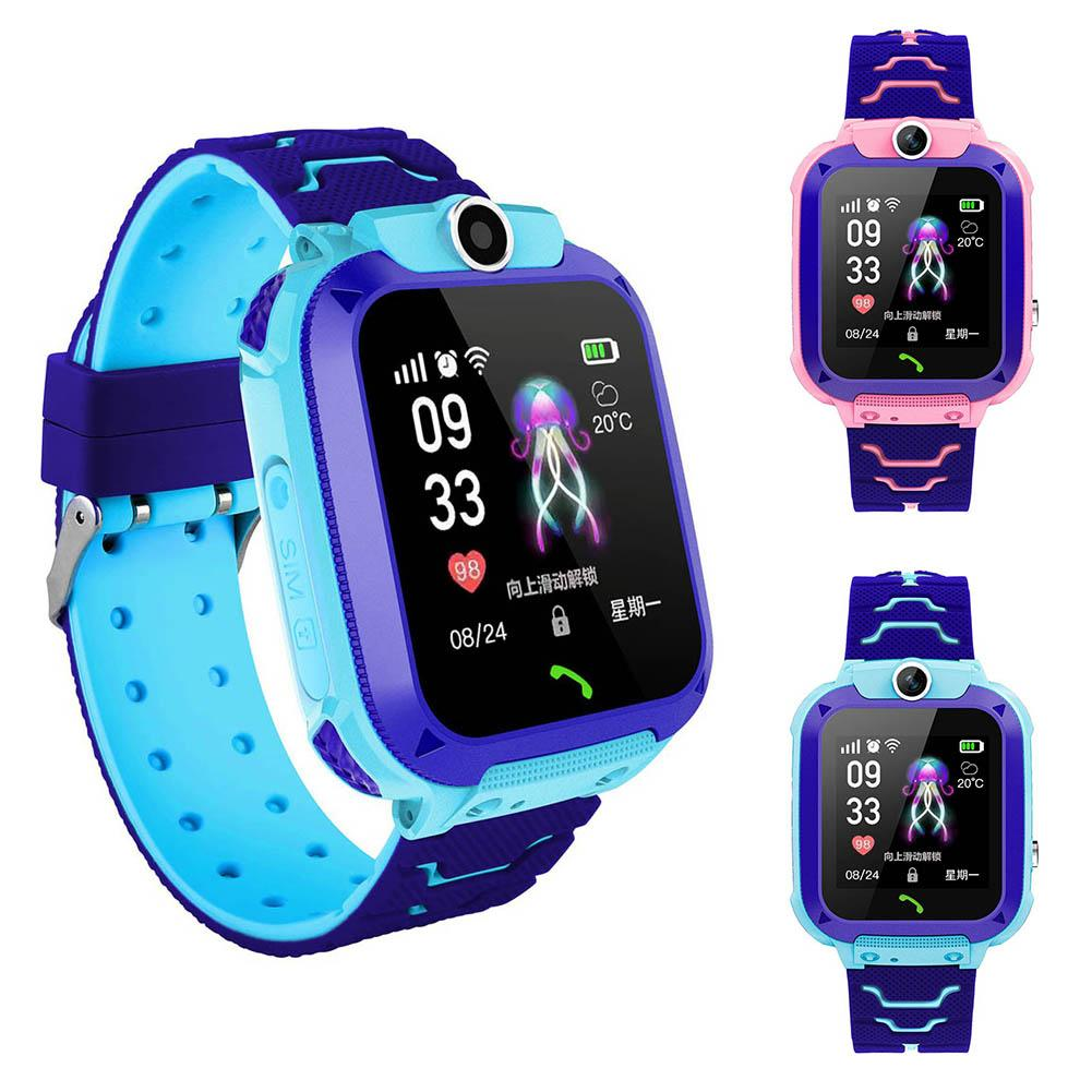 Children Waterproof USB Charge GPS Touch Smart Watch Phone For Android IOS