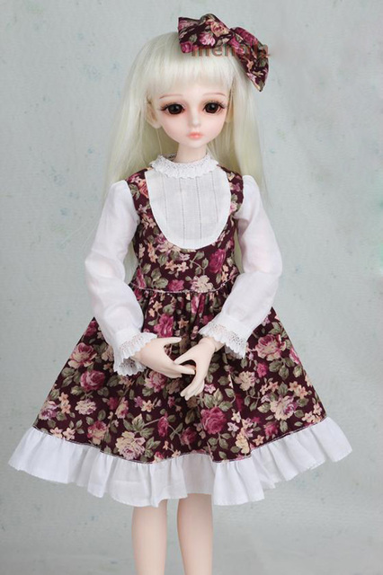 1/3 1/4 1/6 1/8 BJD SD Volks Dod Sooms Ai Doll Clothes Lovely Dress With Butterfly For Girls Doll Dress  2